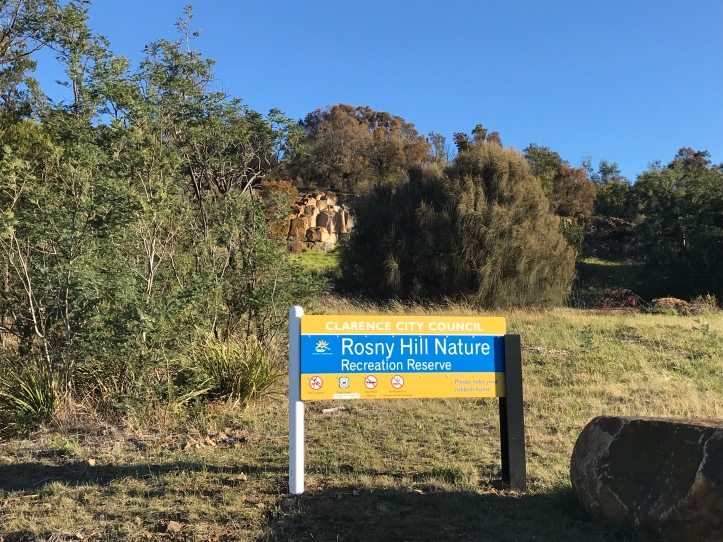 Sign saying Rosny Hill Nature Reserve